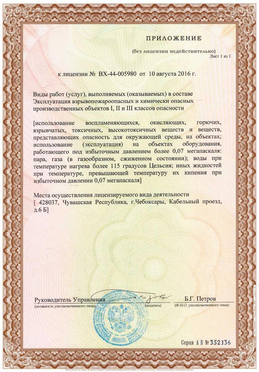 лицензия на запуск газа